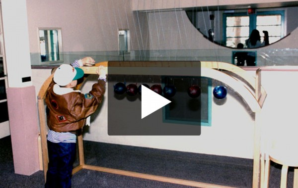 Giant Newton's Cradle Video