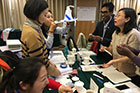 Collaboration at the museum exhibit workshop in Beijing China
